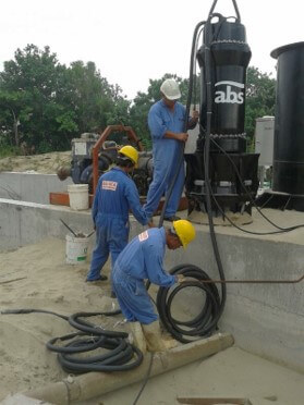 Installation of Submersible Propeller Column Pump